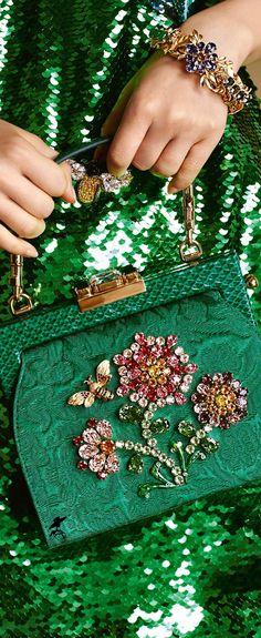 Dolce & Gabbana Women's Botanical Garden Collection Fall Winter 2016 2017 - top designer handbags, purse bags online, zip round purses *ad
