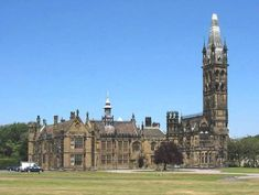 """Scarisbrick Hall in Lancashire was remodelled by famous """"gothicizer"""" Pugin (that bizarrely large tower was added later). It's one of several models for Knightwood Court, the amusingly overdone and anachronistic home created by the newly rich Bulmer family."""
