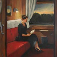 Trem Noroeste ao entardecer. 2005. Óleo sobre tela. Sally Storch (1952 - ).