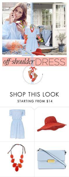 """Spring Trend: Off-Shoulder Dresses"" by colierollers ❤ liked on Polyvore featuring Helen Kaminski, Caliz London, Lanvin, STELLA McCARTNEY, springtrend and offshoulderdress"