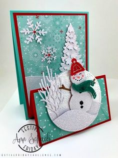 Le Stampin & # s Chess - Design With Ann Chess - Karten - noel Homemade Christmas Cards, Stampin Up Christmas, Christmas Cards To Make, Xmas Cards, Homemade Cards, Holiday Cards, Christmas Crafts, Christmas Sled, Father Christmas