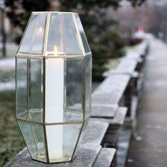 DIY Geometric Glass Lantern