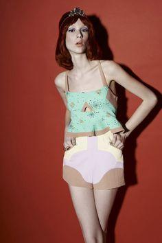 . Thai Fashion, White Shorts, Women, Woman