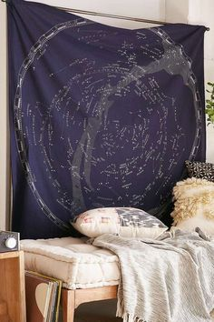 SHOP | Glow-In-The-Dark Constellation Map Tapestry