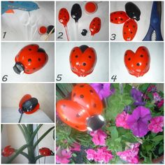 Transform some usual plastic spoons into small decorative ladybugs, it's a nice school project !  Instructions with video--> http://wonderfuldiy.com/wonderful-diy-cute-plastic-spoon-ladybug/