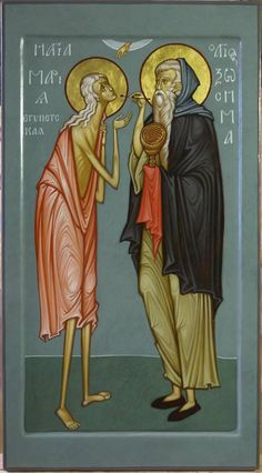 MAXIM SHESHAKOV, St. Mary of Egypt and St. Zosimas icon