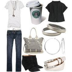 perfectly casual...complete with the coffee!