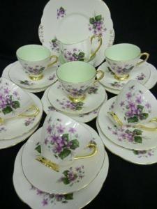 4:00 Tea...Taylor and Kent...Tea Set with Violets, Violets, Violets!
