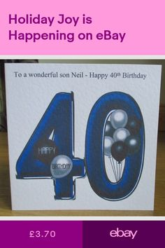 Personalised Handmade Balloons 40th Birthday Card Son Grandson Godson Nephew Dad