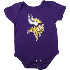 Minnesota Vikings Newborn Purple Team Logo Bodysuit #vikings #nfl #minnesota