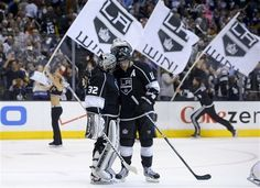 Quick and Kopitar celebrate the win!
