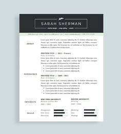 professional resume template and cover letter for word and pages cv template two page