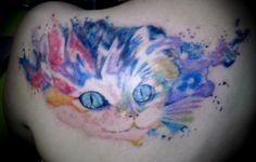 gato en watercolor.