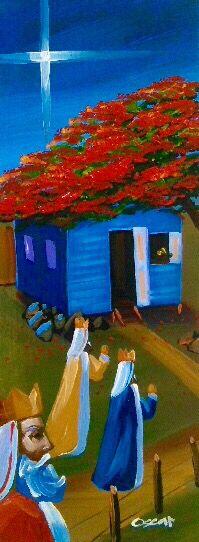 Reyes magos, flamboyán y casita al óleo sobre madera Christmas Nativity Scene, A Christmas Story, Christmas Art, The Gift Of Magi, Christmas In Puerto Rico, Craft Paint Storage, Caribbean Christmas, Puerto Rico Usa, Puerto Rican Culture