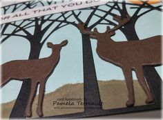 """airbornewife's stamping spot: """"FOR ALL THAT YOU DO"""" Die-cut Trees with Buck & Doe Die-cuts card"""