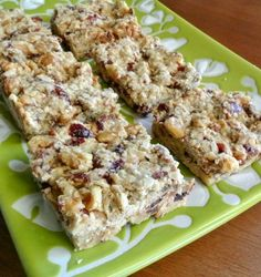 Date Cranberry Breakfast Bars are delicious and healthy.  So easy to grab on the run or relax with your morning read.