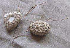 Lavorazione ad uncinetto cotone ecrù su piccoli di StonesInLove, €21.00