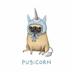 You asked & we delivered. ✨ Fawn Pugicorn illustrated by the fab…