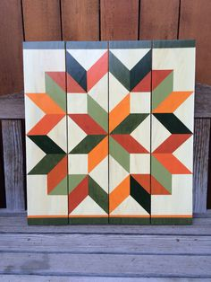 Fall Carpenter #1 - Barn Quilts by Chela