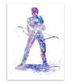 Freeshipping Original Watercolor Hawkeye Avenger Super Hero Modern Hipster Abstract Wall Art Pop Movie Poster Print Canvas Painting Gifts by TheMildArt via ETSY Wall Art Pictures, Canvas Pictures, A4 Poster, Poster Prints, Cheap Art Prints, Modern Hipster, Batman, Unique Poster, Movie Prints