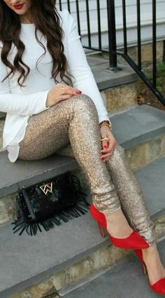 6 ways to wear gold sequin pants on valentines day all fashion video