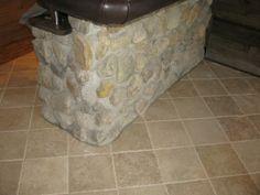 Indoor Stone Flooring Tile   Stone floor surrounding bar area