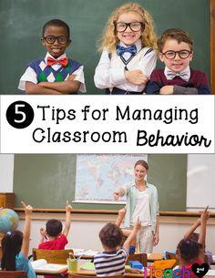 Back to School - 5 Tips for Managing Classroom Behavior