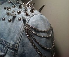 Spiked jeans jacket