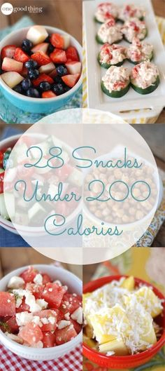 In honor of American Heart Month - 28 healthy, low-calorie snack ideas - one for every day of the month!
