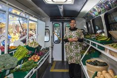 LGA Architectural Planners have converted a decommissioned Toronto Transit Shuttle into a mobile farmers market that brings fresh produce to areas without grocery stores.