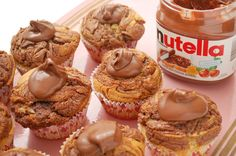 How to Make Nutella Frosted Cupcakes via wikiHow.com #food #dessert #baking
