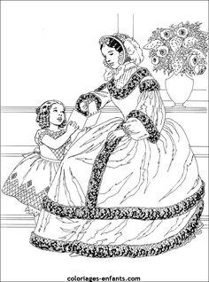 Les Coloriages De Princesses Coloring SheetsColouring PagesAdult