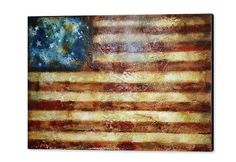 A Rustic American Flag Original Old Glory Abstract by HalfBakedArt