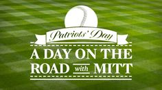 I'd love to meet you – donate $3 and you'll be entered to win an opportunity to join Tagg, Mitt and me in Boston on Patriots' Day.