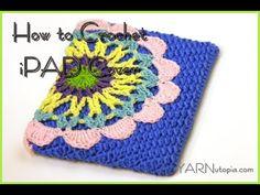 #Crochet Phone Case Ipod Ipad Crochet Tablet cover TUTORIAL #58 - YouTube