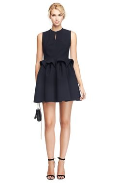 Wool-Crepe Sculpted Waist Dress by DELPOZO Now Available on Moda Operandi