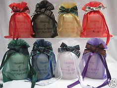 nice idea to bring in the Lindsay MacLeod tartans Candle Wedding Favors, Candle Favors, Personalized Candles, Personalized Wedding Favors, Macleod Tartan, Scottish Tartans, Chrome, Bulb, Led