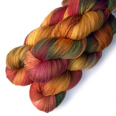 Lace Yarn Merino and Silk - Bright Autumn, 870 yards by JulieSpins on Etsy https://www.etsy.com/listing/245629819/lace-yarn-merino-and-silk-bright-autumn