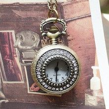 2015 Pocket Watch Anime Watch Guitar Antique Clock Necklace Pendant With Long Chain Quartz Analog Best Gift Wholesale Dropship
