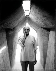 "Paolo Soleri, 93. Italian Architect known for ""Arcosanti"" in Scottsdale, AZ [21-Jun-1919 to 9-Apr-2013] Natural causes."