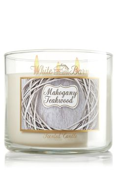 Mahogany Teakwood 14.5 oz. 3-Wick Candle - Slatkin Co. - Bath Body Works love this scent and it's almost all burned out!