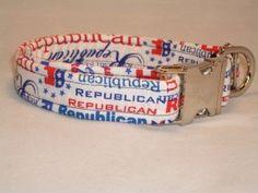 Republican Patriotic Dog Collar - Swanky Pet