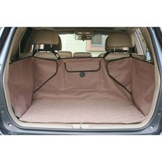 """Quilted Cargo Cover – Petiquette Dogs - The K&H Quilted Cargo Cover protects your SUV from dirt, mud, grime and moisture with this universal-fit cargo cover. It's quilted to keep pet's comfortable too and has a handy storage pocket for leashes, toys, and other pet accessories. Crafted from vinyl-backed, 600-denier nylon to keep moisture from reaching your vehicle's carpet. Easy to install with adjusting Velcro® straps. """"Like"""" or """"Pin"""" this and use discount code """"Pin5"""" for 5% off ."""