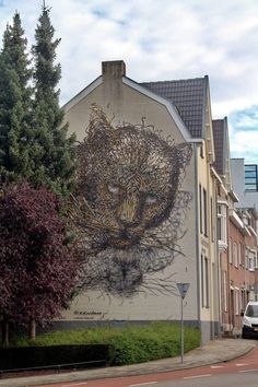 Wall paints, Muurschilderingen, Peintures Murales,Trompe-l'oeil, Graffiti, Murals, Street art.: Heerlen - Netherlands