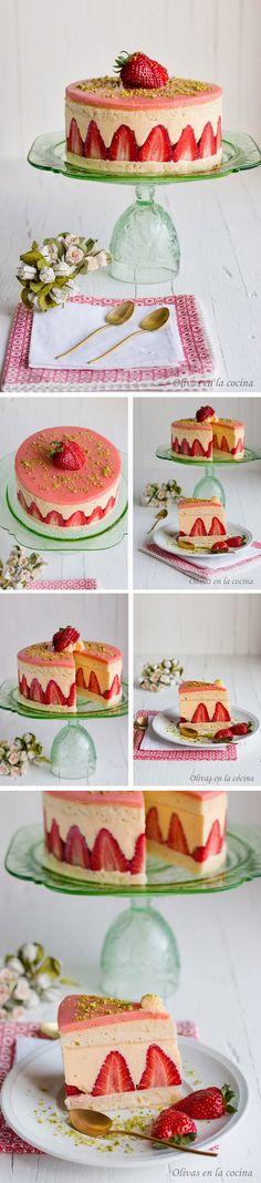 Tarta Fraisier / http://rositaysunyolivasenlacocina.blogspot.com.es/