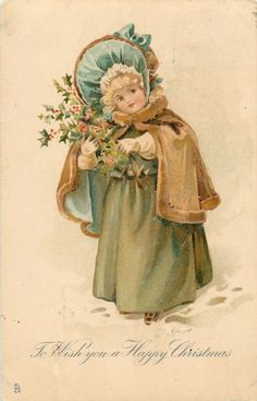 - English - vintage postcard (need to verify… Vintage Christmas Images, Christmas Pictures, Christmas Postcards, Noel Christmas, Victorian Christmas, Winter Christmas, Vintage Pictures, Vintage Images, Vintage Cards