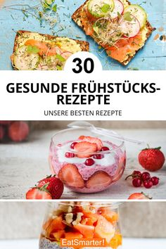 That can be very diverse. From porridge and chia pudding to delicious bread, smoothies, muesli and spreads. Here you will find 30 healthy breakfast recipes! Healthy Smoothies, Healthy Drinks, Healthy Eating, Healthy Breakfast Recipes, Brunch Recipes, Healthy Recipes, Breakfast Desayunos, Breakfast Casserole, Breakfast Porridge