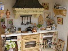 Miniatura casa de muñecas cocina RoomBox estilo por Minicler
