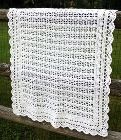 Heirloom Lace Baby Blanket