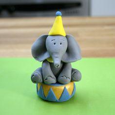 Circus Cake Toppers | Fondant Elephant | Sugarpaste Monkey